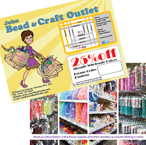 Heading to the creativ festival the john bead craft for The crafts outlet coupon code